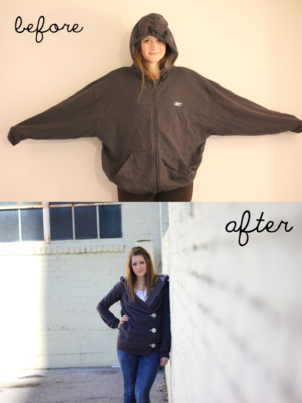 sweatshirt refashion