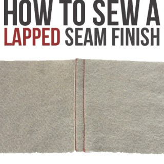 Fun seam finish! Lapped seam finish tutorial