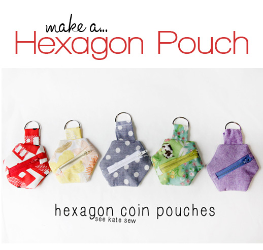 These Hexagon Pouches are so cute! Fun tutorial #sewing #tutorial
