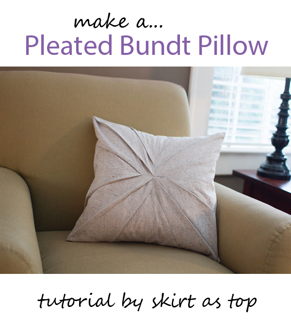 pleated bundt pillow