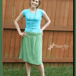 easy knit skirt