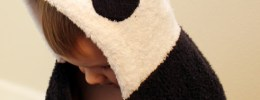 panda bear hooded towel