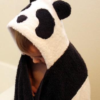 panda bear hooded towel
