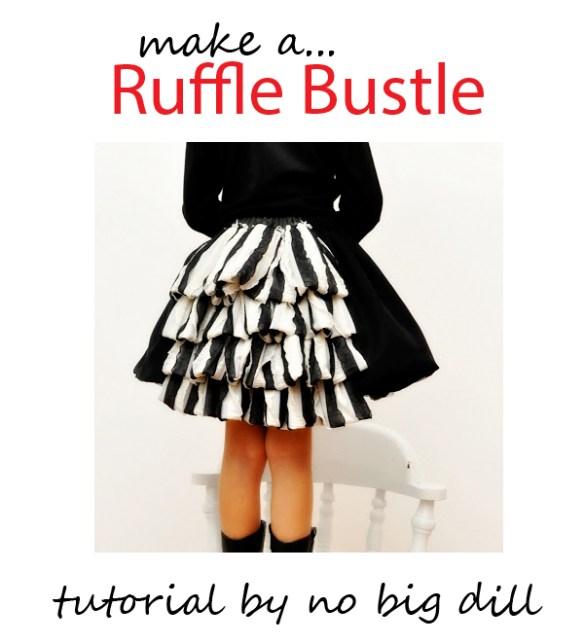 ruffle bustle