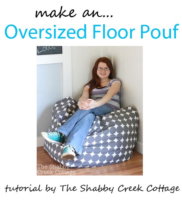 oversized floor pouf