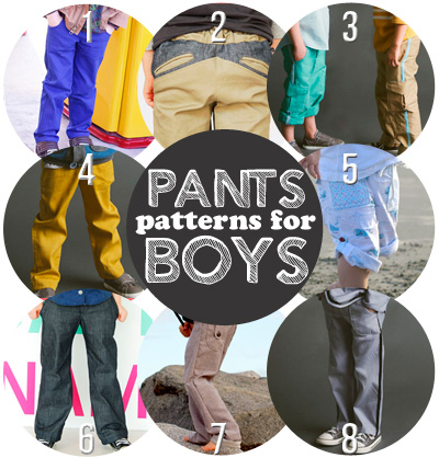 so many pants patterns for boys!