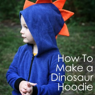 Featured: Dinosaur Hoodie Tutorial
