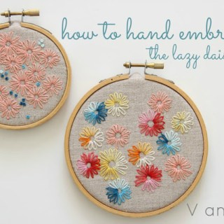 Featured: Learn to Hand Embroider the Lazy Daisy Stitch