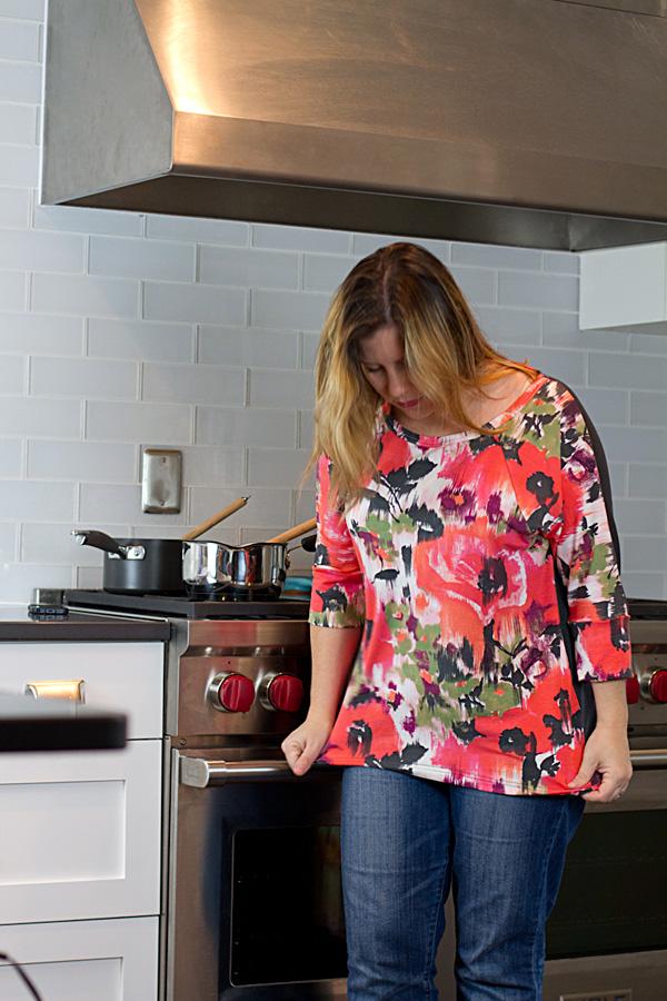 Floral-knit-shirt