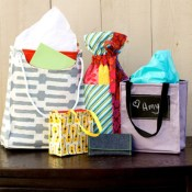 Fabric Gift Bags sewing pattern