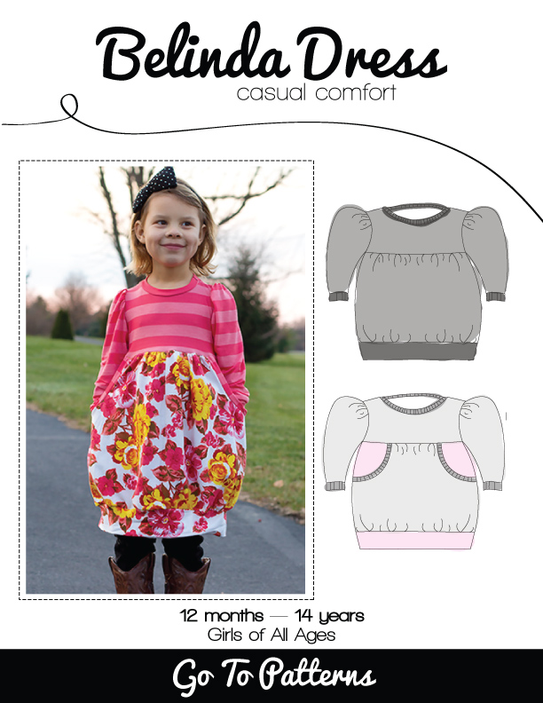 Belinda Dress sewing pattern for girls