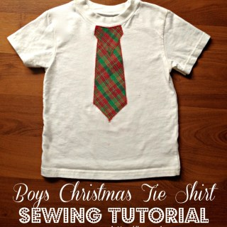 Featured: Christmas Tie Shirt Tutorial