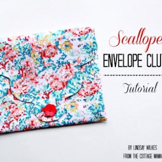 Featured: Scalloped Envelope Clutch Tutorial