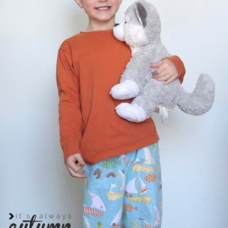 Easiest Ever Kids PJs Tutorial