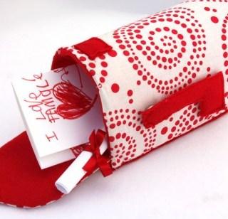 Fabric Valentines Mailbox