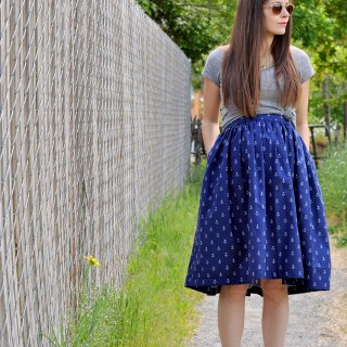 Very Gathered Maternity Skirt