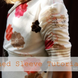 Ruched Sleeve Tutorial