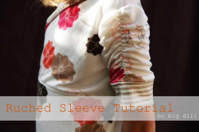 ruched sleeve