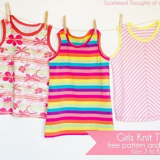Girls Knit Tank Tutorial