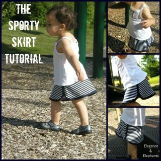 Sporty Skirt Tutorial