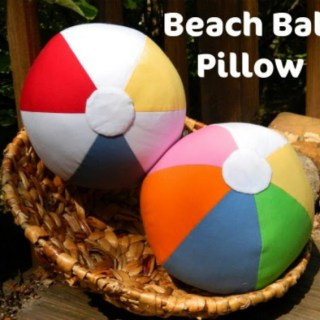 Beach Ball Pillow Tutorial