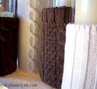 Recycled Sweater Vase Tutorial