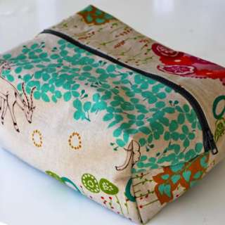 Boxy Cosmetic Bag Tutorial