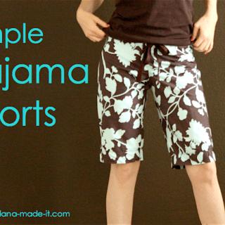 Women's Pajama Shorts Tutorial