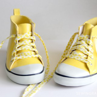 Fabric Shoelace Tutorial