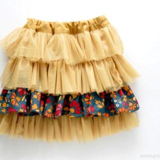 Fabric & Tulle Skirt DIY