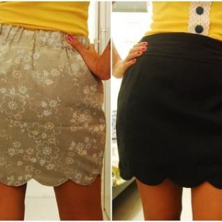 Reversible Scalloped Hem Skirt Tutorial