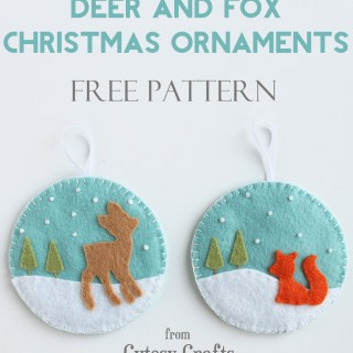Felt Deer & Fox Ornament Tutorial