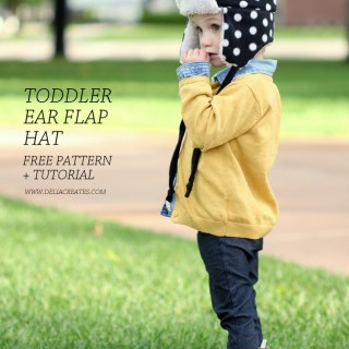 Toddler Ear Flap Hat Tutorial