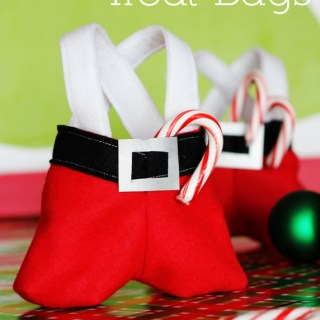 Santa Pants Treat Bag Tutorial