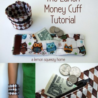 Lunch Money Cuff Tutorial