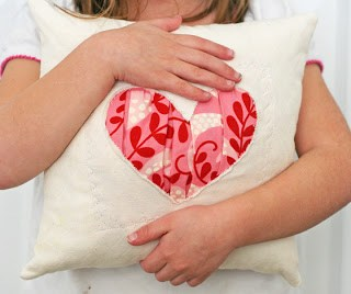 Gathered Heart Pillow