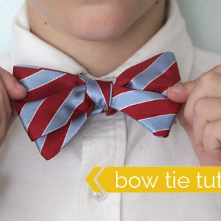 Boy Bow Tie Upcycle