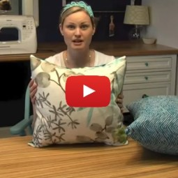 Learn to make 2 types of pillow covers with this easy video tutorial by Teal and Lime - Sewtorial