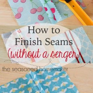 Learn the different ways to finish a seam without a serger with this detailed article by The Seasoned Homemaker. - Sewtorial