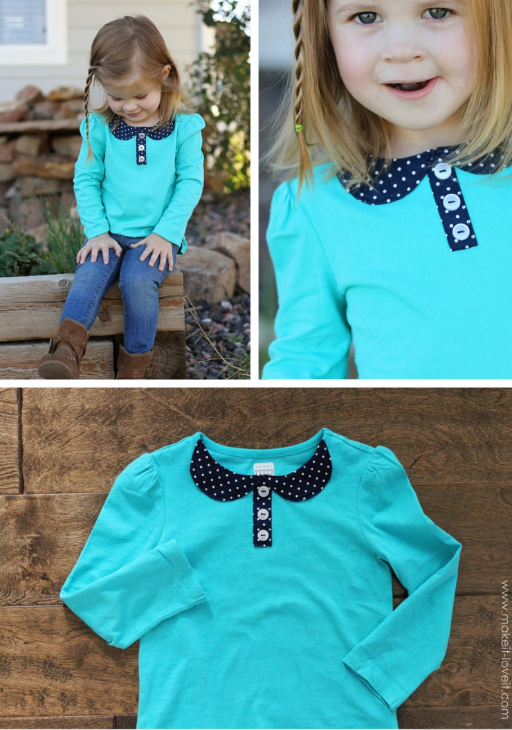 The peter pan collar is such a classic look. You can create a one of a kind collar to embellish your t-shirts with this easy tutorial by Make It Love It. - Sewtorial