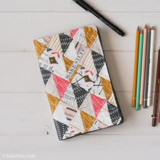 quilted sketchbook cover by Radient Home Studio - Sewtorial