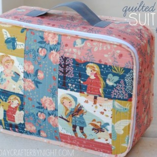 Create a one of a kind suitcase with this quilted suitcase tutorial by Mommy By Day, Crafter By Night. -Sewtorial