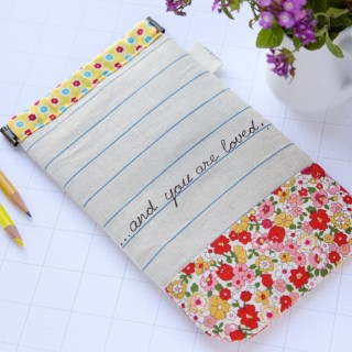 What a sweet pencil carrier! Find the pencil case tutorial at Minki's Work Table.