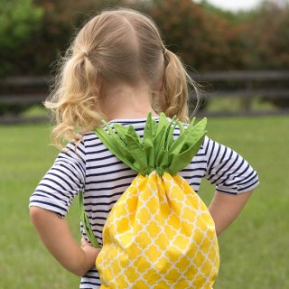 "What's not to love about the Pineapple Drawstring Back by Stitched by Crystal? She shares her ""how to's"" on the Make It Love It Blog. -Sewtorial"