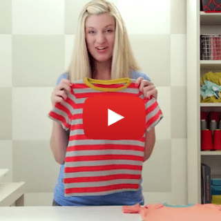 Do you have a favorite comfy t-shirt? Learn how to sew a t-shirt in this video tutorial by Dana from Made. -Sewtorial