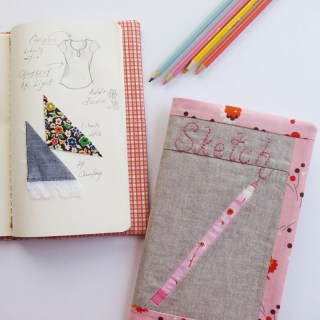 This DIY sketchbook cover by Sew Mama Sew is beginner friendly and perfect for the blooming designer on your gift list. -Sewtorial