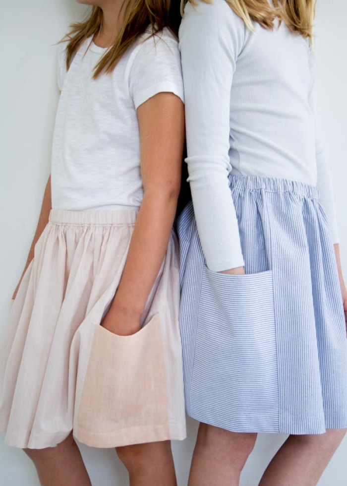Gathered skirts are a great project. The Purl Bee shares a gathered skirt tutorial with lots of tips and detailed photos. -Sewtorial