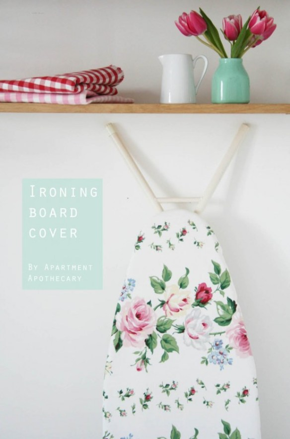 Apartment Apothecary shares a tutorial for creating an ironing board cover that will look just as pretty as the garment you're ironing.- Sewtorial