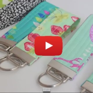 This Key Fob tutorial by Melanie Ham is a fun beginner project and easy to make. Make one as a gift or for yourself. -Sewtorial