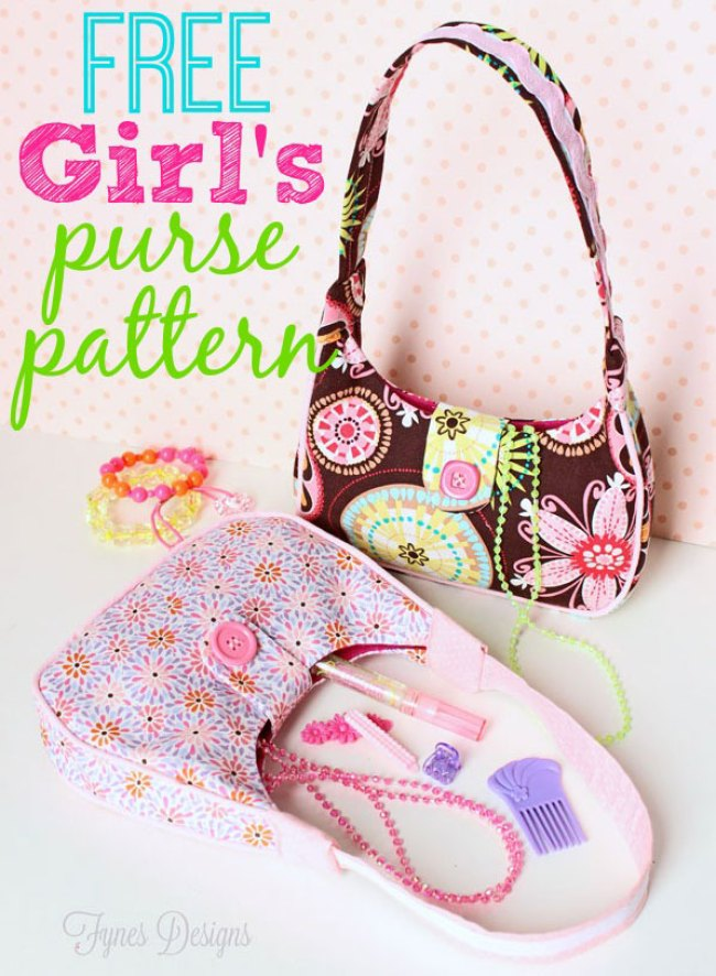 This little girl's purse project by Fynes Designs makes the perfect collaborative project for you and your sweet little one. -Sewtorial